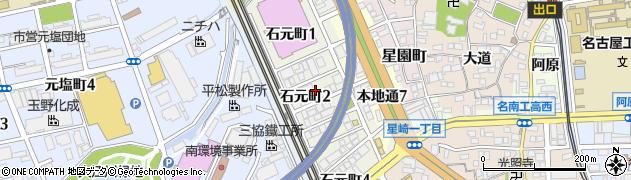 愛知県名古屋市南区石元町周辺の地図