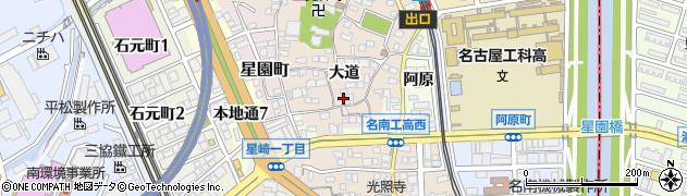 愛知県名古屋市南区本星崎町(大道)周辺の地図