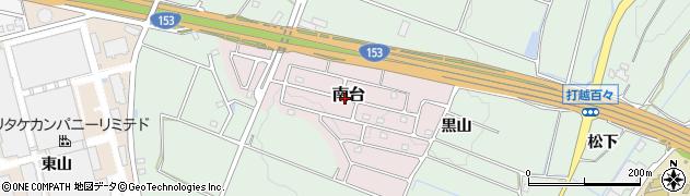 愛知県みよし市南台周辺の地図