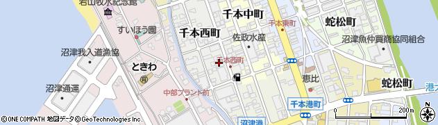 静岡県沼津市千本西町周辺の地図
