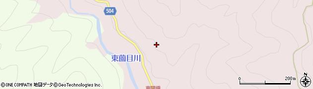愛知県北設楽郡東栄町東薗目金山沢周辺の地図