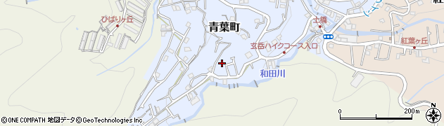 静岡県熱海市青葉町周辺の地図