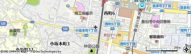 小亀 豊田・本店周辺の地図