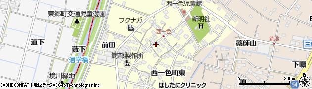 愛知県みよし市西一色町(中)周辺の地図