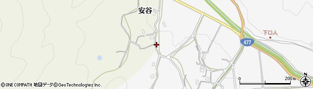 京都府南丹市園部町口人(オカサキ)周辺の地図