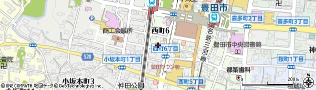 道楽周辺の地図