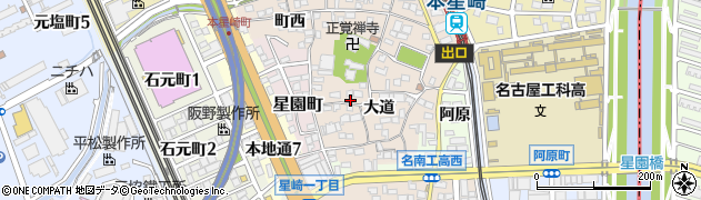 愛知県名古屋市南区本星崎町周辺の地図