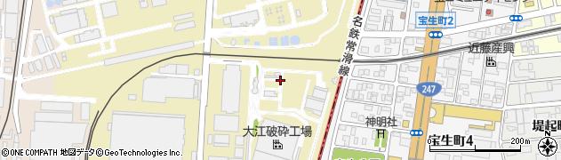 愛知県名古屋市港区本星崎町周辺の地図