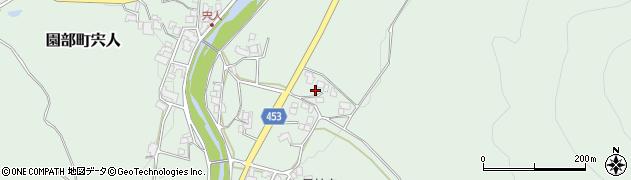 京都府南丹市園部町宍人(岡鼻)周辺の地図