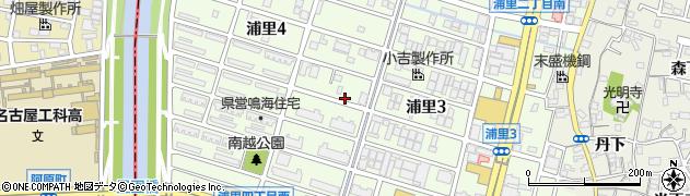 愛知県名古屋市緑区浦里周辺の地図