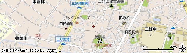 愛知県みよし市三好町(荒畑)周辺の地図