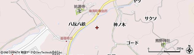 愛知県豊田市幸海町(酒呑二ツ岩)周辺の地図