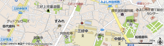 愛知県みよし市三好町(前畑)周辺の地図