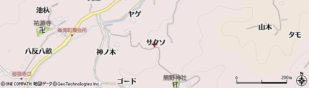愛知県豊田市幸海町(サクソ)周辺の地図