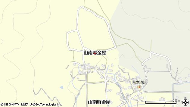 〒669-3128 兵庫県丹波市山南町金屋の地図