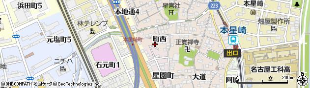 愛知県名古屋市南区本星崎町(町西)周辺の地図
