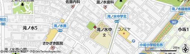 愛知県名古屋市緑区滝ノ水周辺の地図