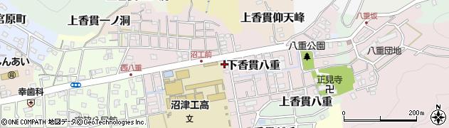 静岡県沼津市下香貫八重周辺の地図