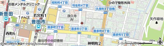 バイオレット周辺の地図