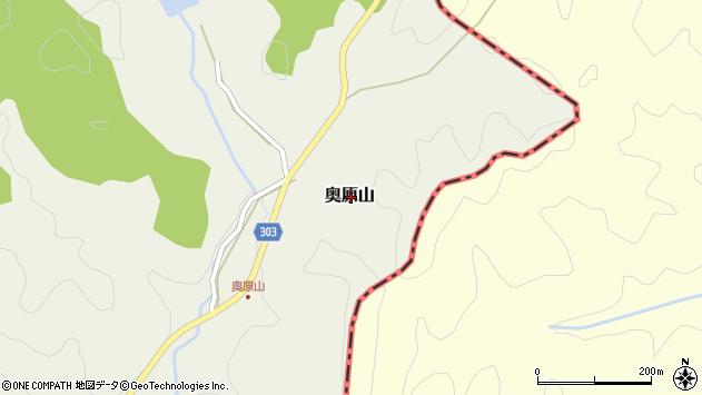 〒669-2501 兵庫県丹波篠山市奥原山の地図