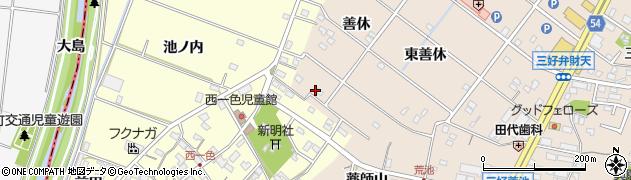 愛知県みよし市三好町(善休)周辺の地図