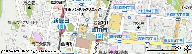 まめ魚豊田店周辺の地図