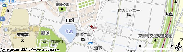 愛知県愛知郡東郷町春木山崎周辺の地図