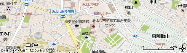 愛知県みよし市三好町(陣取山)周辺の地図