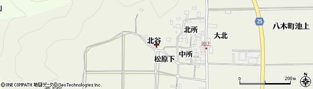京都府南丹市八木町池上(北谷)周辺の地図