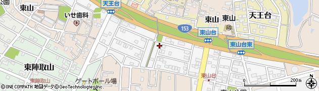 愛知県みよし市東山台周辺の地図