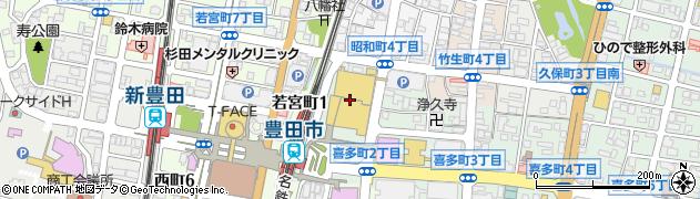 杵屋豊田ギャザ店周辺の地図