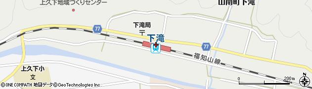 兵庫県丹波市周辺の地図