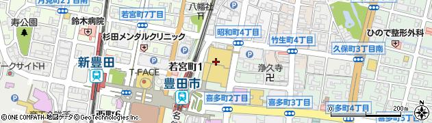 名鉄トヨタホテル桂林周辺の地図