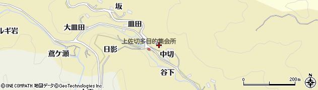 愛知県豊田市上佐切町(中切)周辺の地図