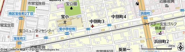 愛知県名古屋市南区中割町周辺の地図