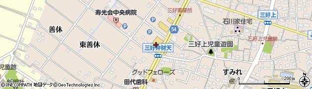 丸忠寿司丸忠フィール三好店周辺の地図
