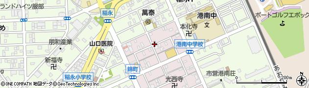 愛知県名古屋市港区錦町周辺の地図