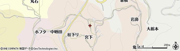 愛知県豊田市桑原田町周辺の地図