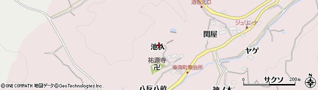 愛知県豊田市幸海町(池杁)周辺の地図