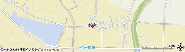 岡山県津山市杉宮周辺の地図