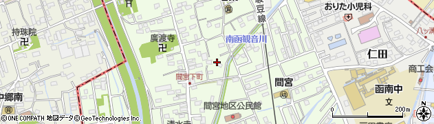 静岡県田方郡函南町間宮周辺の地図