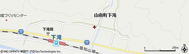 兵庫県丹波市山南町下滝周辺の地図