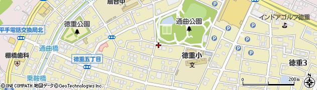 愛知県名古屋市緑区徳重周辺の地図
