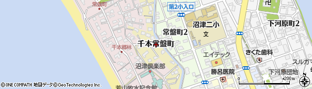 静岡県沼津市千本常盤町周辺の地図