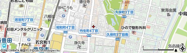 くくり周辺の地図