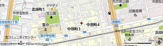 ちょう周辺の地図