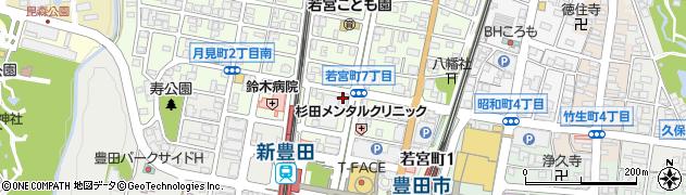 隠れや豊田店周辺の地図