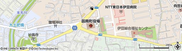 静岡県田方郡函南町周辺の地図