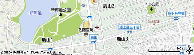 愛知県名古屋市緑区鹿山周辺の地図