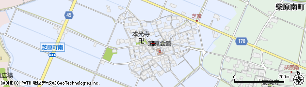 滋賀県東近江市芝原町周辺の地図